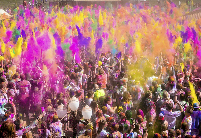 Holi Festival nos Estados Unidos | Foto por Steven Garner