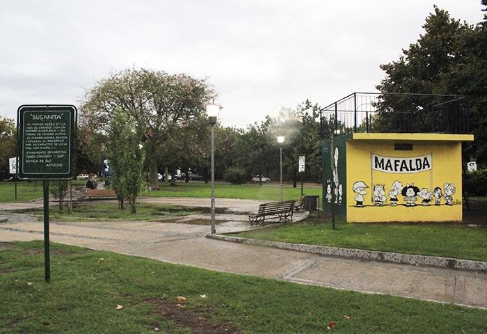 Plaza Mafalda, no bairro Colegiales   Foto por Rogério Tomaz Jr.