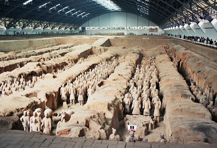 As surpreendentes escavações   Foto via Wkimedia Commons