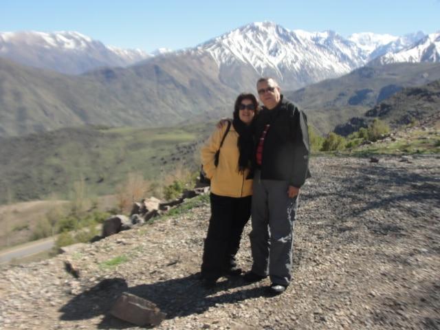 Aniviel e Gilka em Villa de Farellones, Chile