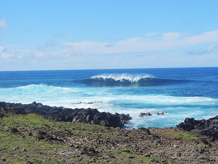 Uma das encostas da ilha | Foto por Sabrina Levensteinas