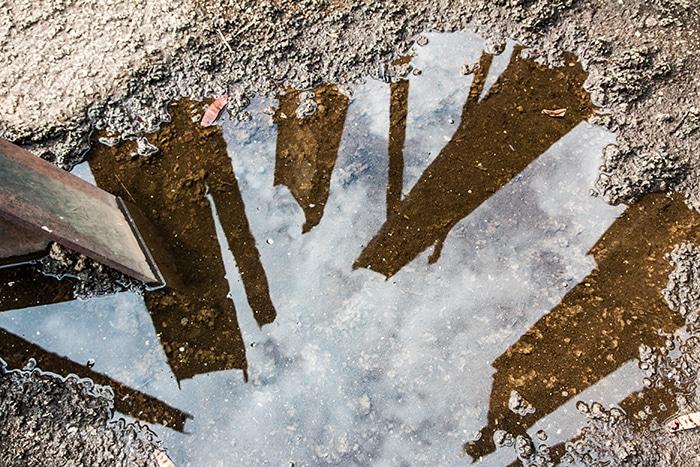 O reflexo de Beam drop | Foto por Daniel Carnielli