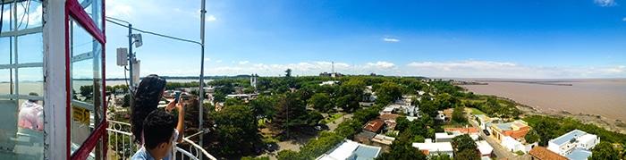 A vista do topo do farol vale o esforço da subida   Foto por João Paulo de Vasconcelos