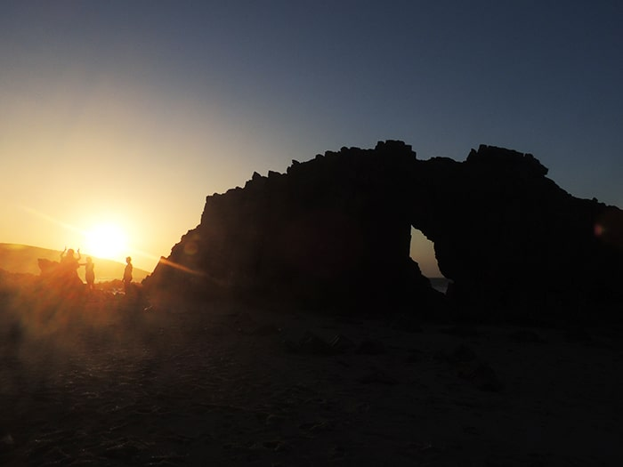 Pôr do sol na Pedra Furada | Foto por Sabrina Levensteinas