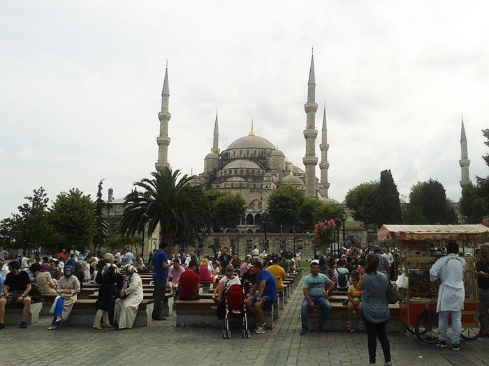 A Mesquita Süleymaniye, na parte antiga de Istambul | Foto por Pedro Henrique Ferreira