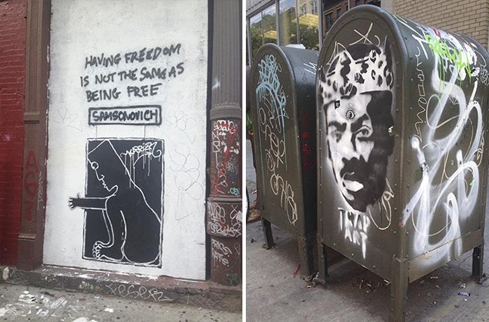 Fãs de Street Art dominam o lugar   Foto por Jamile Diniz