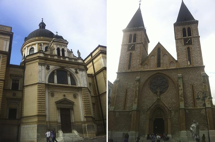Igreja Ortodoxa Sérvia e Catedral do Sagrado Coração   Foto por Mathias Boni