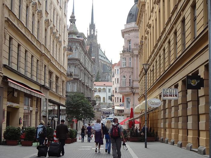 Região central de Brno   Foto por Carolina Caio