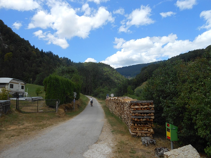 Um dos pontos de início do circuito franco-suíço em Soubey   Foto por Grazi Calazans