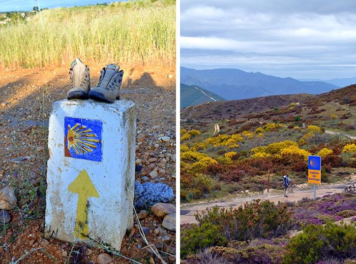 Concha da vieira marcam os diferentes trajetos do Caminho de Santiago