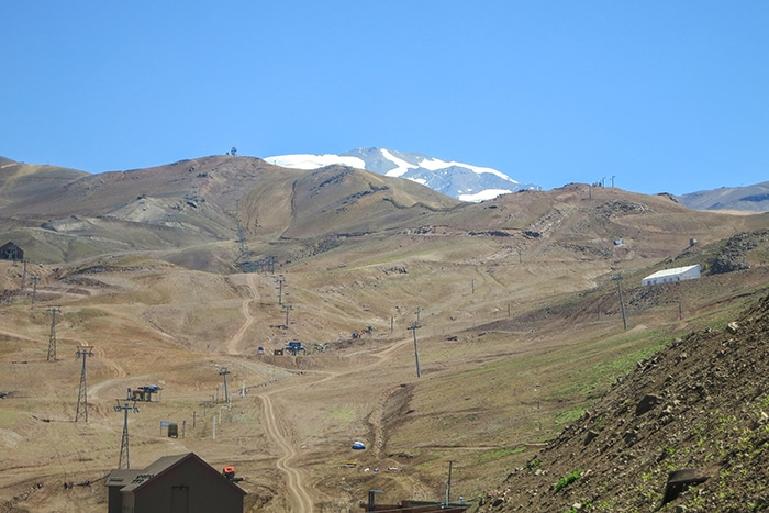 A vista do Valle Nevado | Foto por Sabrina Didoné