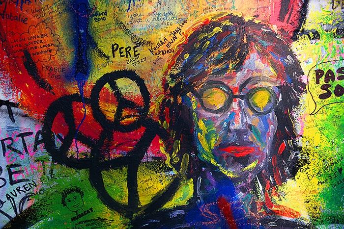 Muro de John Lennon em Praga