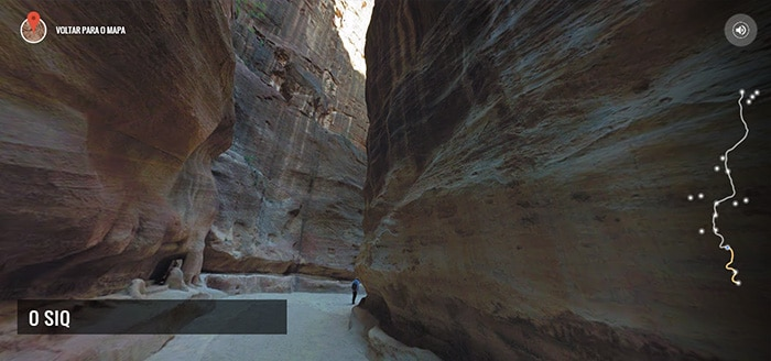 O Siq, em Petra