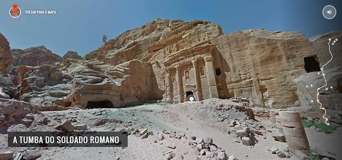 A Tumba do Soldado Romano, em Petra