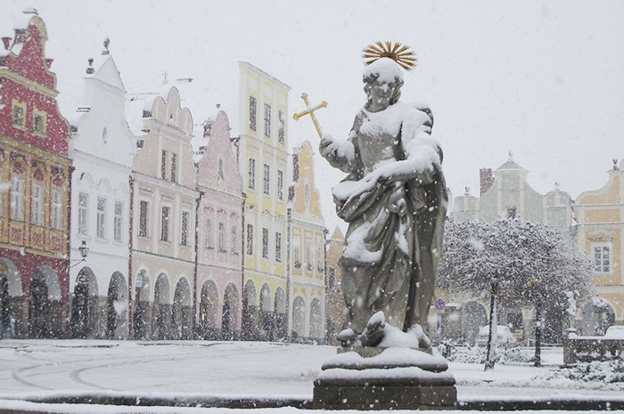 Telč em um dia de inverno | Foto por Zizo Asnis/O Viajante