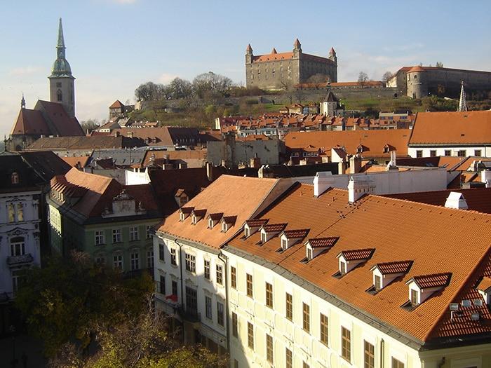 Castelo de Bratislava na capital, Eslováquia, Leste Europeu