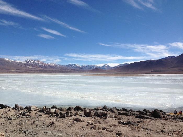 Laguna Blanca, na travessia do Salar de Uyuni   Foto por Zizo Asnis