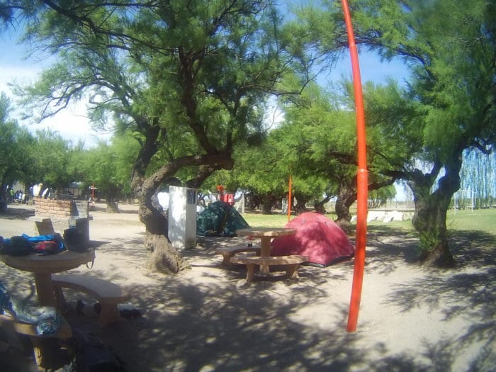 Camping em Bahía Blanca – acampar às vezes é a única alternativa   Camila Bertassoni (arquivo pessoal)