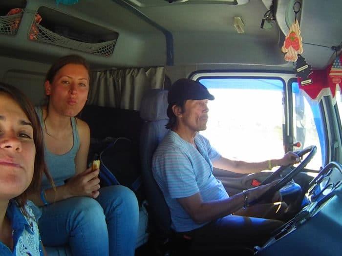 De carona pela Ruta Nacional   Camila Bertassoni (arquivo pessoal)
