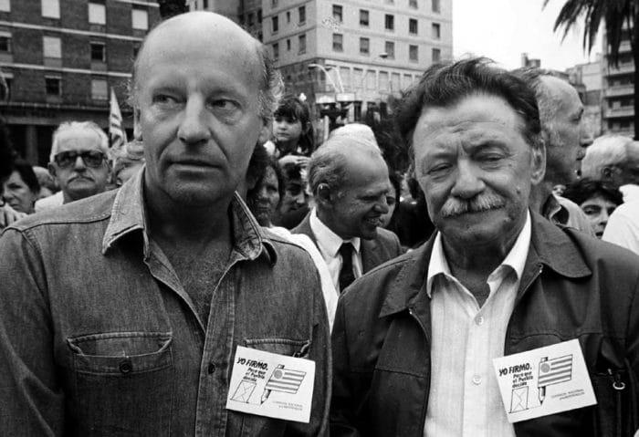 Galeano e Benedetti, dois dos escritores uruguaios mais conhecidos
