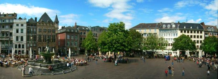 Centro de Aachen visto do prédio da prefeitura | Foto lokilech (CC BY-NC-SA 2.0)