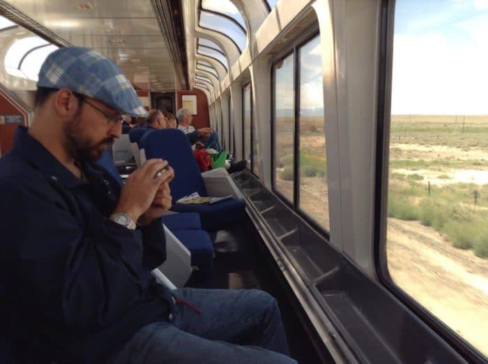 Janelas panorâmicas nos trens da Amtrak