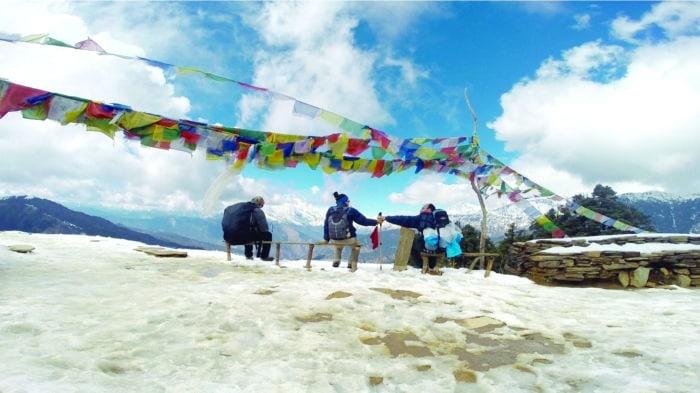 No caminho ao topo do Annapurna, Himalaia