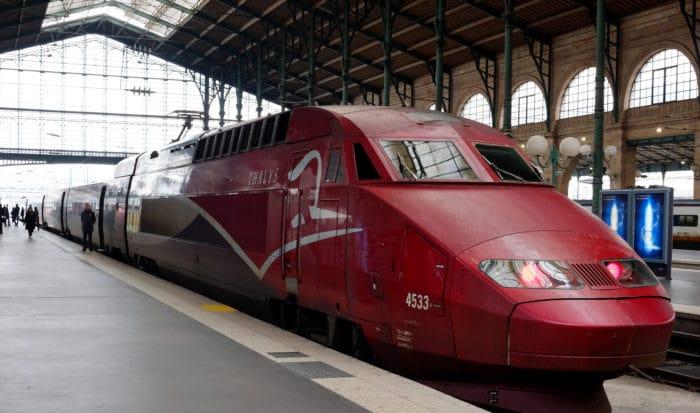 Trem da Thalys que liga Paris a Bruxelas   Foto Thomas Depenbusch
