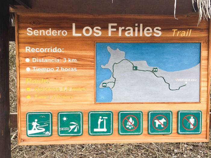 Mapa do Parque Nacional Machalilla.