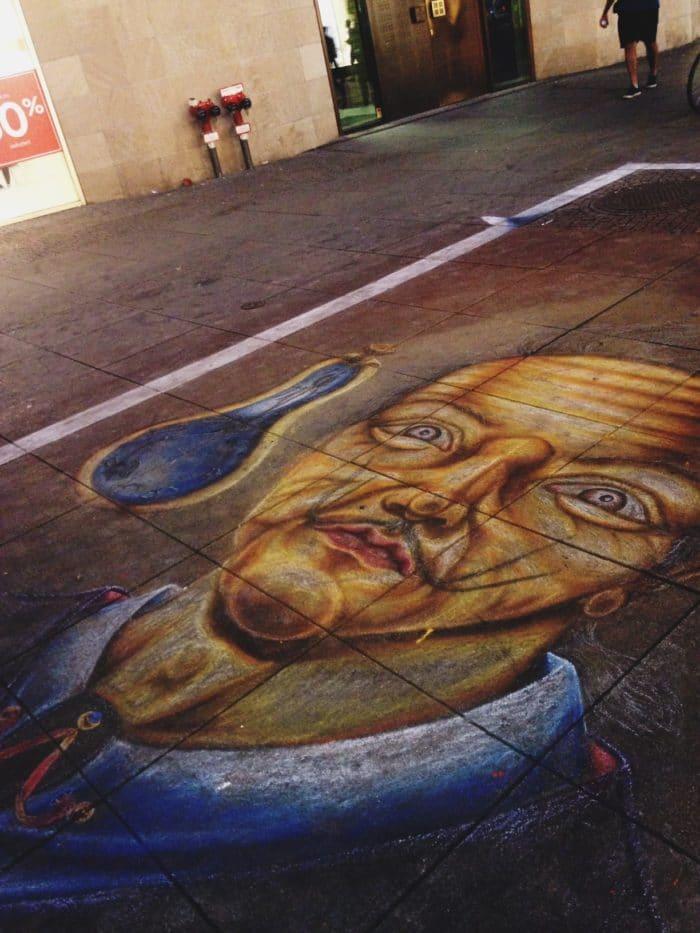 Arte de rua na capital alemã, Berlim.